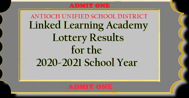 Lottery Results for the 2020-2021 School Year